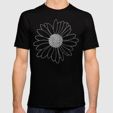 Daisy Grid MEDIUM Black Mens Fitted Tee