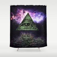 illuminati Shower Curtains featuring Illuminati 2 by gypsykissphotography