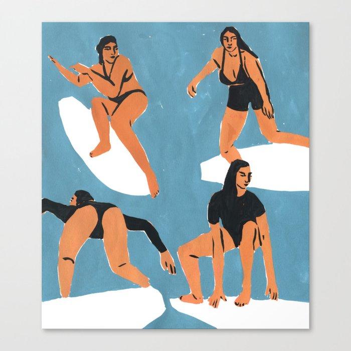 Surf Girls Leinwanddruck