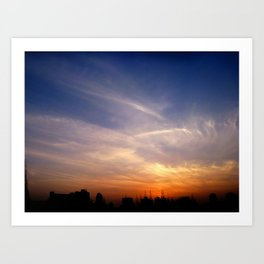 Pollution at Dusk Art Print