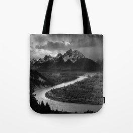 Ansel Adams - The Tetons and Snake River Tote Bag