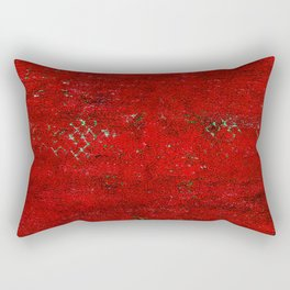 V17 Red Traditional Moroccan Carpet Texture. Rectangular Pillow