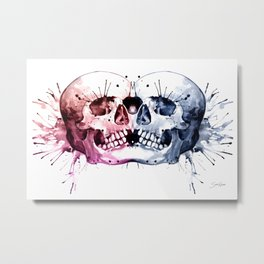 Conjoined Skull Metal Print