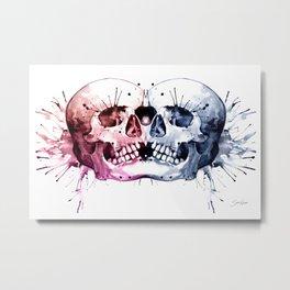 Conjoined Skull Metal Print