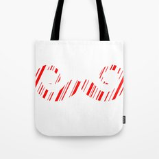 Peppermint Stache Tote Bag