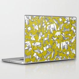 origami animal ditsy chartreuse Laptop & iPad Skin