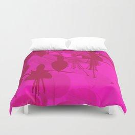 Pink Duotone Fuschias Duvet Cover