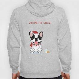 French Bulldog Waiting for Santa - Brindle Pied Edition Hoody