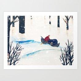 White Sea of Snow  Art Print