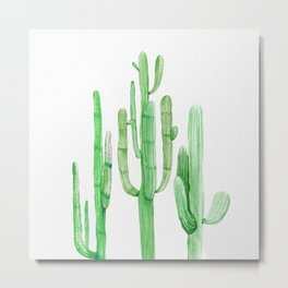 Three Amigos Cacti Green Metal Print
