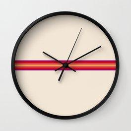 Classic Retro 70s Vintage Style Stripes - Duuk Wall Clock