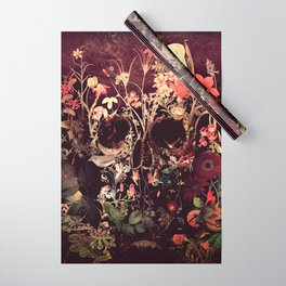 Bloom Skull Wrapping Paper