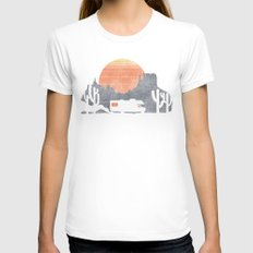 Trail of the dusty road Womens Fitted Tee SMALL White