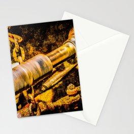 Rotating Cardan Shaft. Grunge Rusty Metal. Motion Blur Stationery Cards