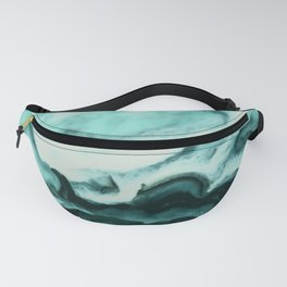 Abstract marbling mint Fanny Pack