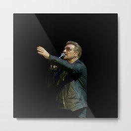 Bono - London Concert Metal Print