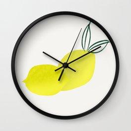 Citrons Wall Clock