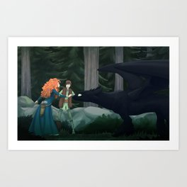 He won't bite Art Print