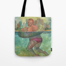 summer bearded boy Tote Bag