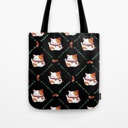 Maneki Neko Pattern Tote Bag