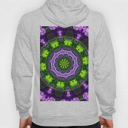 Mandala purple and green Hoody