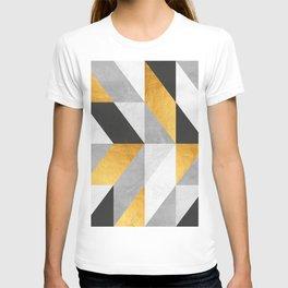 Golden Geometric Art T-shirt