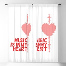 Music is in my heart Blackout Curtain