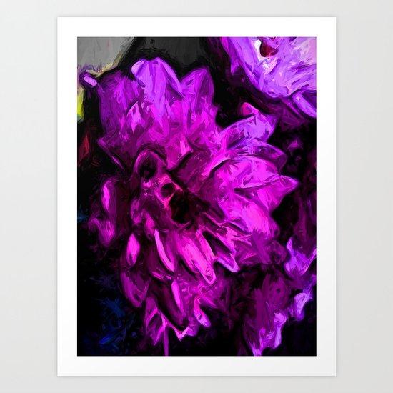 Lavender and Pink Flower Art Print