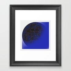 Q-BLUE Framed Art Print