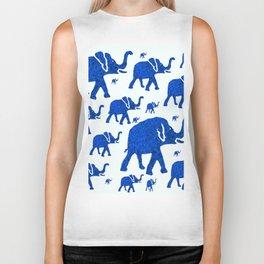 ELEPHANT BLUE MARCH Biker Tank
