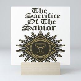 The Sacrifice Of The Saviour Mini Art Print