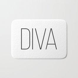 One Word Signs, Diva, igital Quotes, Affiche Scandinave, Fashion Wall Art, Modern Minimalist Bath Mat