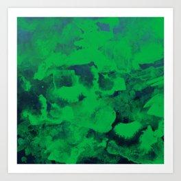 Green Watercolor Art Print