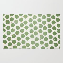 Green Dots and Gold Stars Rug