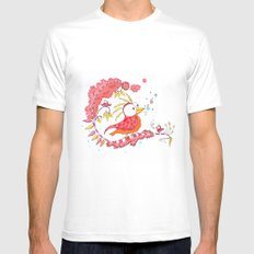 The bird Mens Fitted Tee White MEDIUM