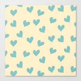 Valentines Heart Blue Pearl #Valentines Canvas Print