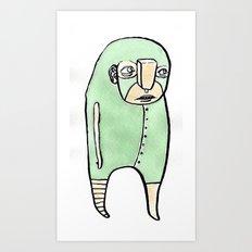 feeling green Art Print