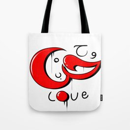 love word graffiti  tag in arabic and English Tote Bag