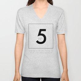 5 THE INVESTIGATOR Unisex V-Neck