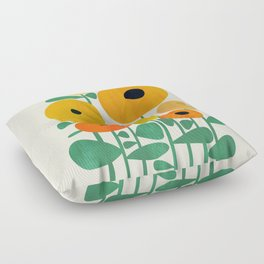 Sunflower and Bee Floor Pillow