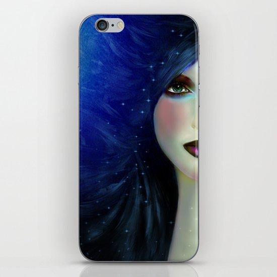 WOMAN FACE (NIGHT) iPhone & iPod Skin