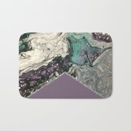 Marbled Purple Butterfly Silver Bath Mat