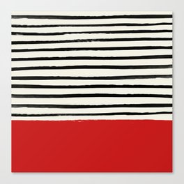 Red Chili x Stripes Canvas Print