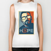 half life Biker Tanks featuring Half Life Hope by The Strynx