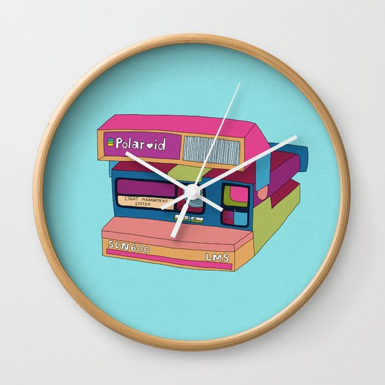 Captures Great Moments (color fun) Wall Clock