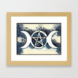 Three Moon Goddess Framed Art Print
