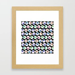Lovely Sparkly Rainbow Eyeballs Framed Art Print