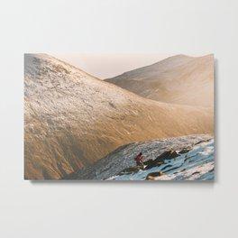 Hiking in Mourne Mountains Ireland Metal Print