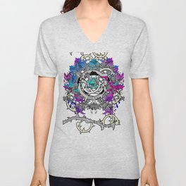violet rose in Pandora Unisex V-Neck