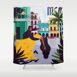 Havana ft. Salsa Dancers Shower Curtain